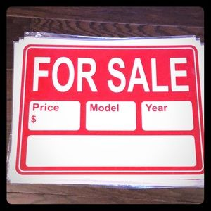 Other - Brand NEW!! For Sale Signs